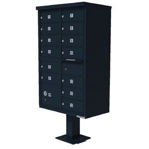 13 Door Cluster Box Unit for Tall Pedestal Stucco Columns, Black