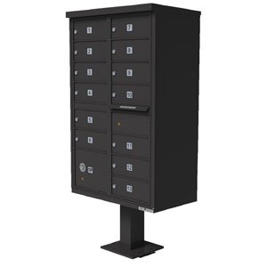 13 Door Cluster Box Unit for Tall Pedestal Stucco Columns, Bronze