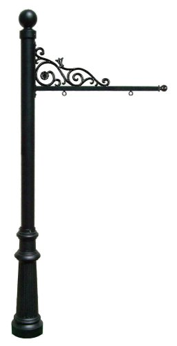 Prestige Real Estate Sign System with Ball Finial & Fluted Base in Black color