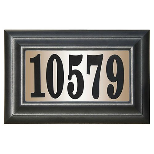 "Edgewood Classic Lighted Address Plaque ""Do it yourself kit"", Black"