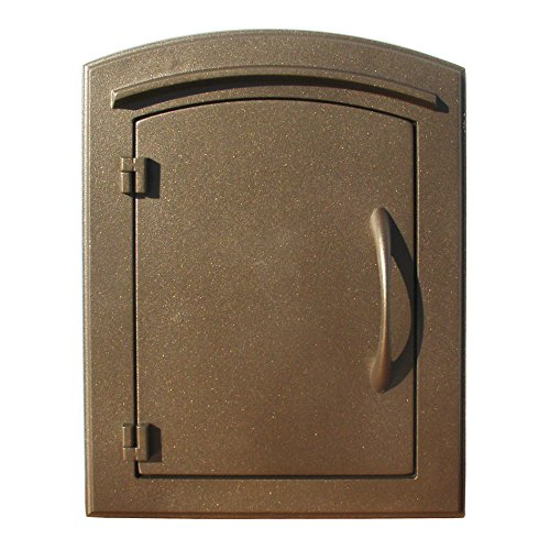 Manchester Column Mounted Mailbox, Plain Door, Bronze
