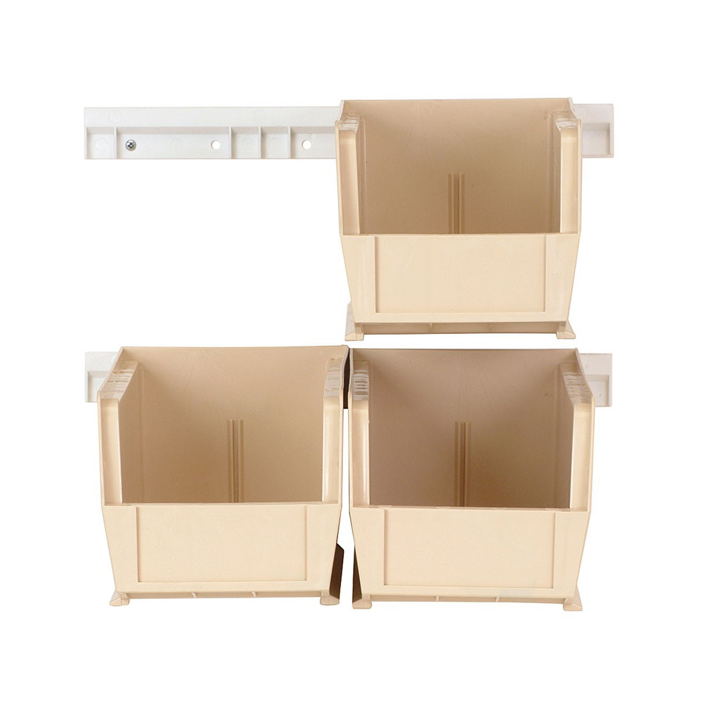 HNS230 Clear-View Hang-And-Stack Bin Complete Package Ivory - 1 Set