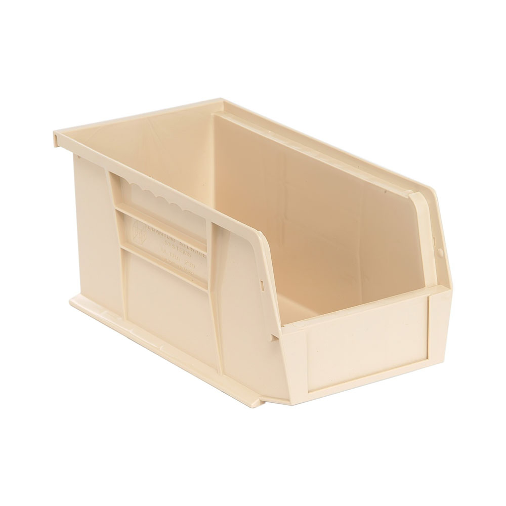 """Ultra Stack and Hang Bin 10-7/8""""Lx 5-1/2""""Wx 5""""H - Ivory Pack of 12"""