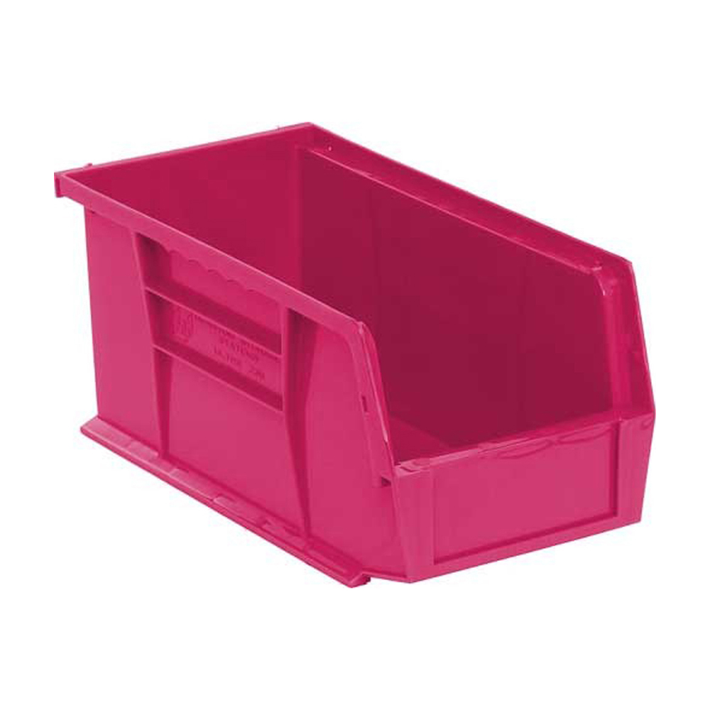 """Ultra Stack And Hang Bin Pink - 10-7/8"""" X 5-1/2"""" X 5"""" Pack Of 12"""