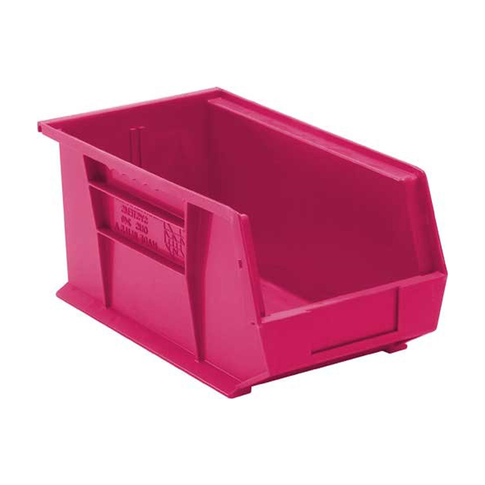 """Ultra Stack And Hang Bin Pink - 14-3/4"""" X 8-1/4"""" X 7"""" Pack Of 12"""
