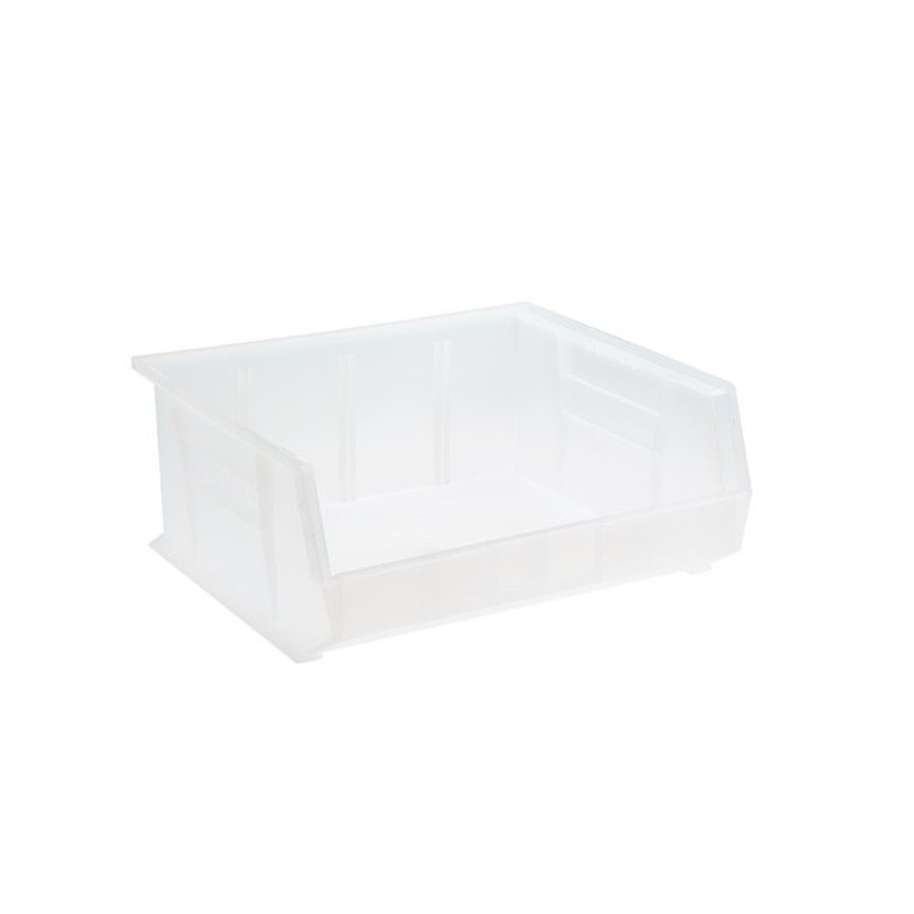 """Quantum Plastic Storage Clear-View Ultra Hang and Stack Bin 14-3/4"""" x 16-1/2"""" x 7"""" - Pack of 6"""
