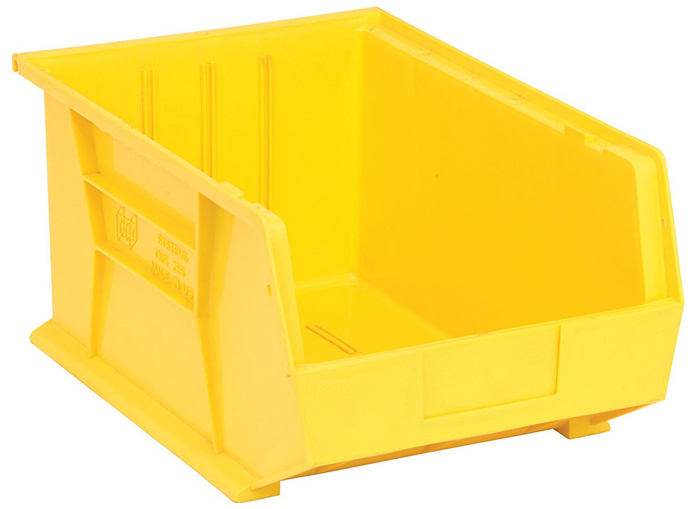 QUS255 Ultra Stack And Hang Bin Yellow - Pack of 4
