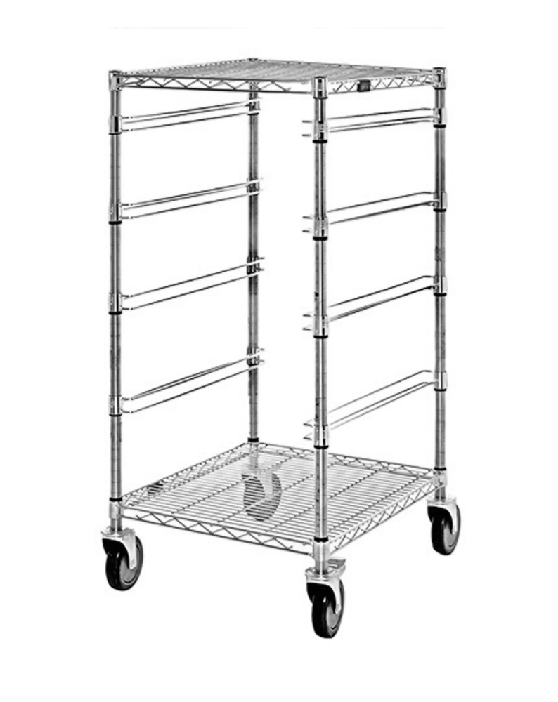 "24""W x 21""L x 45""H Cart - 4 Levels, No Bins"