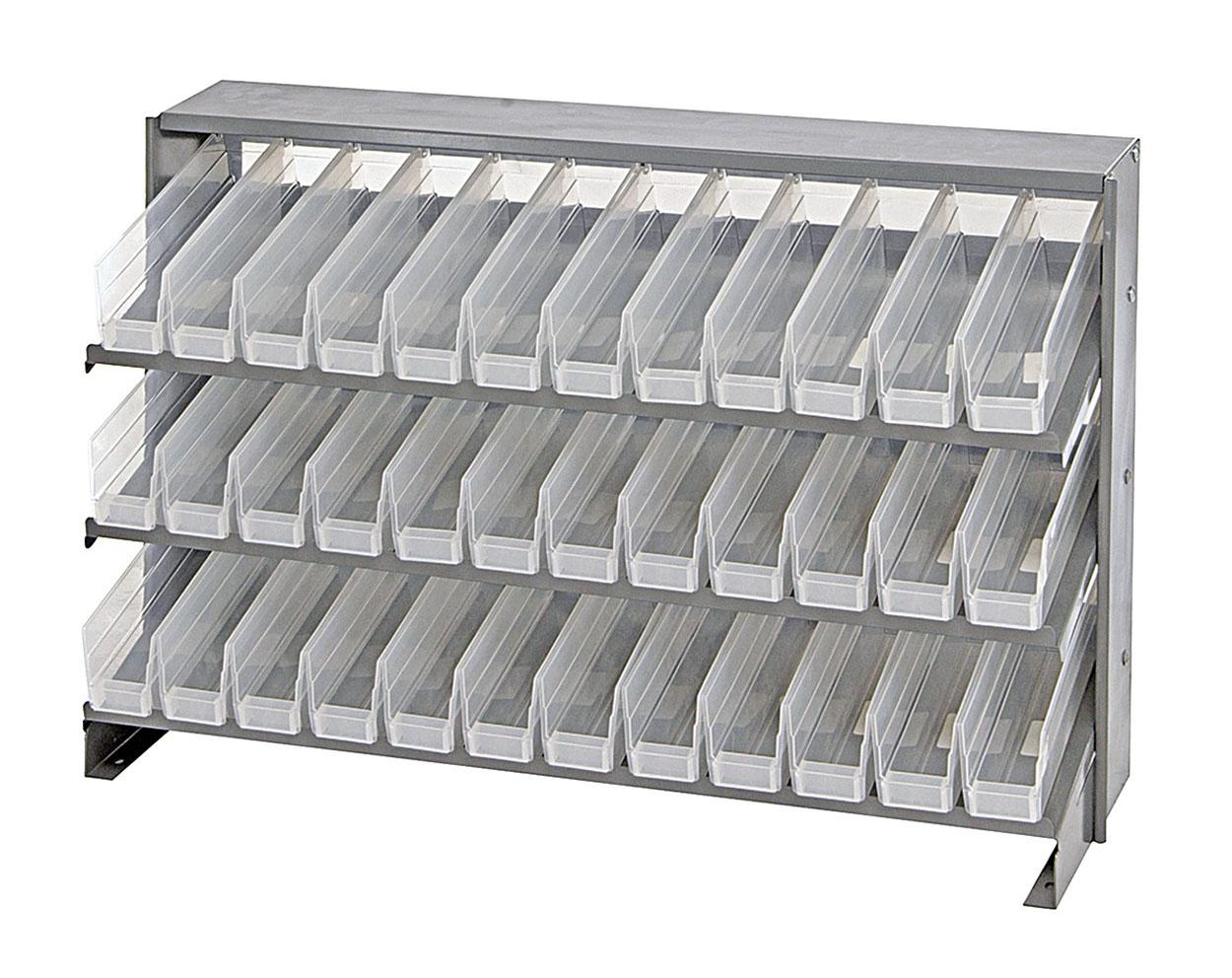 "QPRHA-100CL CLear-View Pick Rack Systems Bench Pick Racks 12-1/2"" X 36"" X 23"""