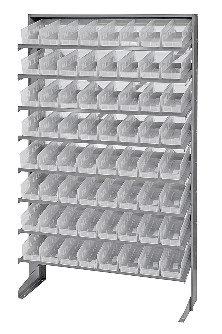 """QPRS-101CL CLear-View Pick Rack Systems Single-Sided Racks 12"""" X 36"""" X 60"""""""