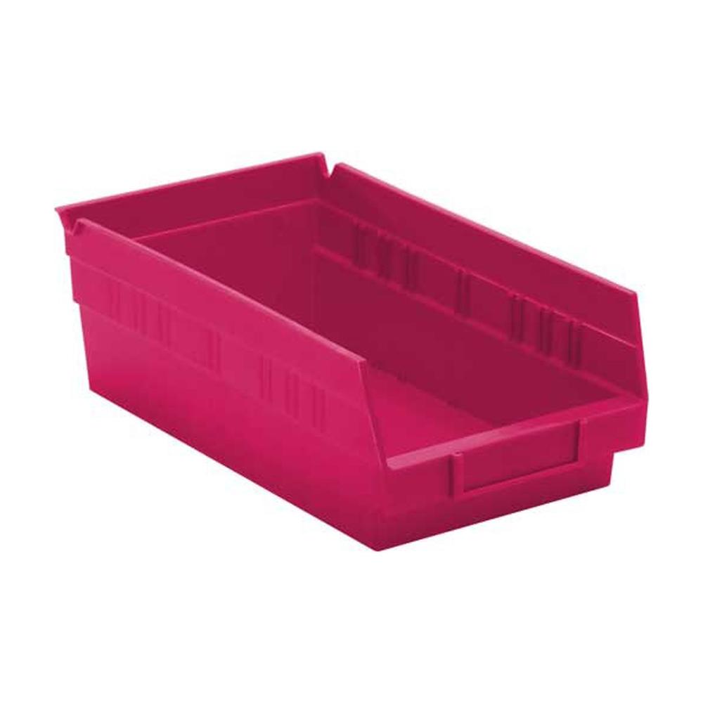 """Economy Shelf Bins Pink 11-5/8""""Lx 6-5/8""""W"""
