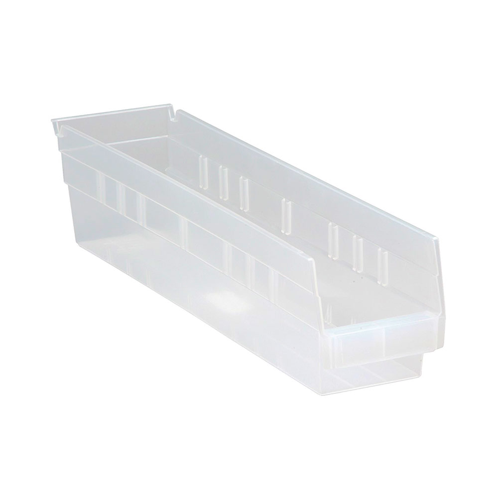QSB103CL CLEAR-VIEW economy shelf bin - pack of 20