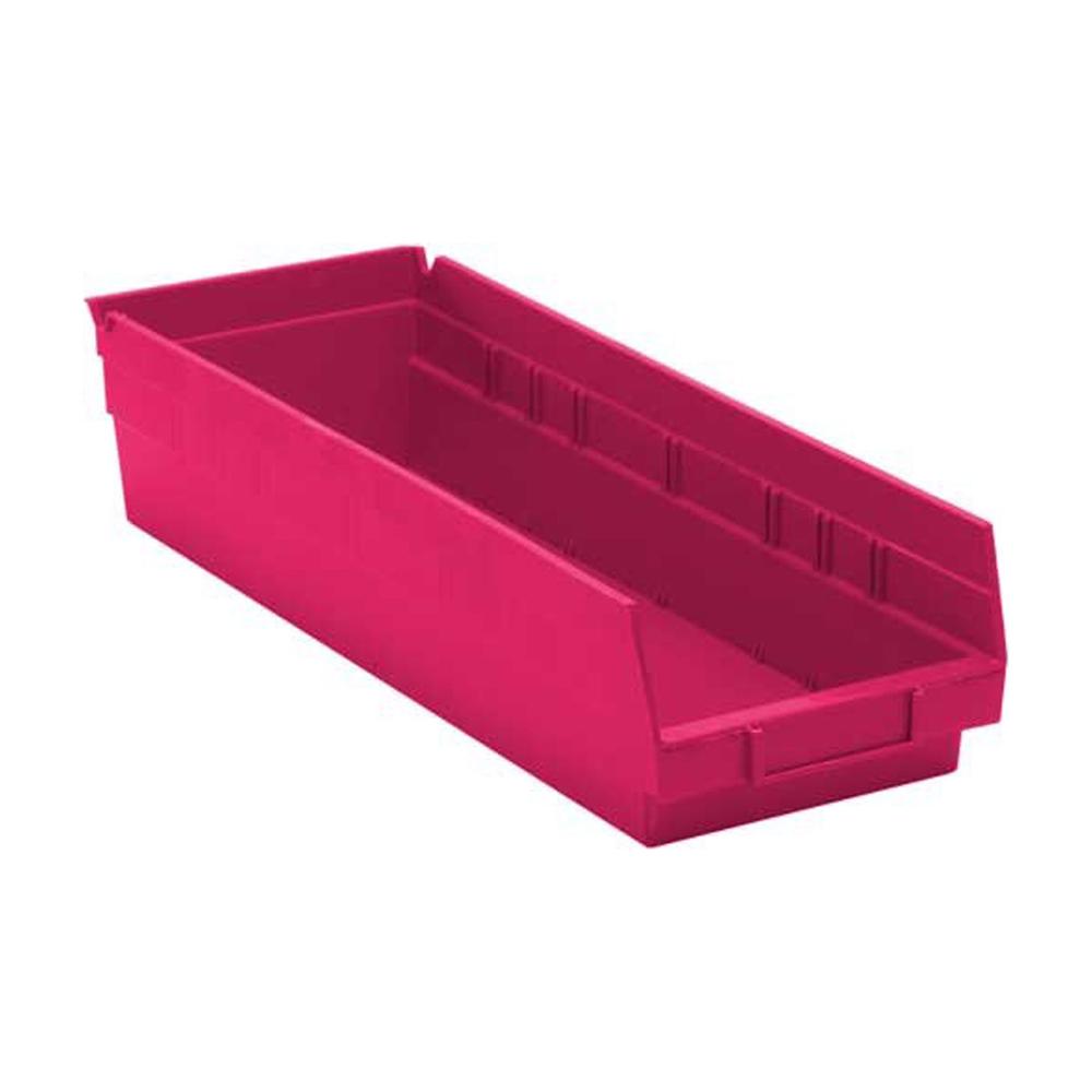 Economy Shelf Bins Pink 17-7/8
