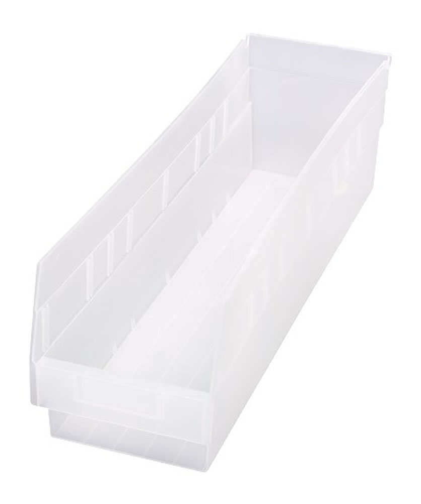 "Store-More 6"" Shelf Bin 23-5/8"" X 6-5/8"" X 6"" - Pack of 8"