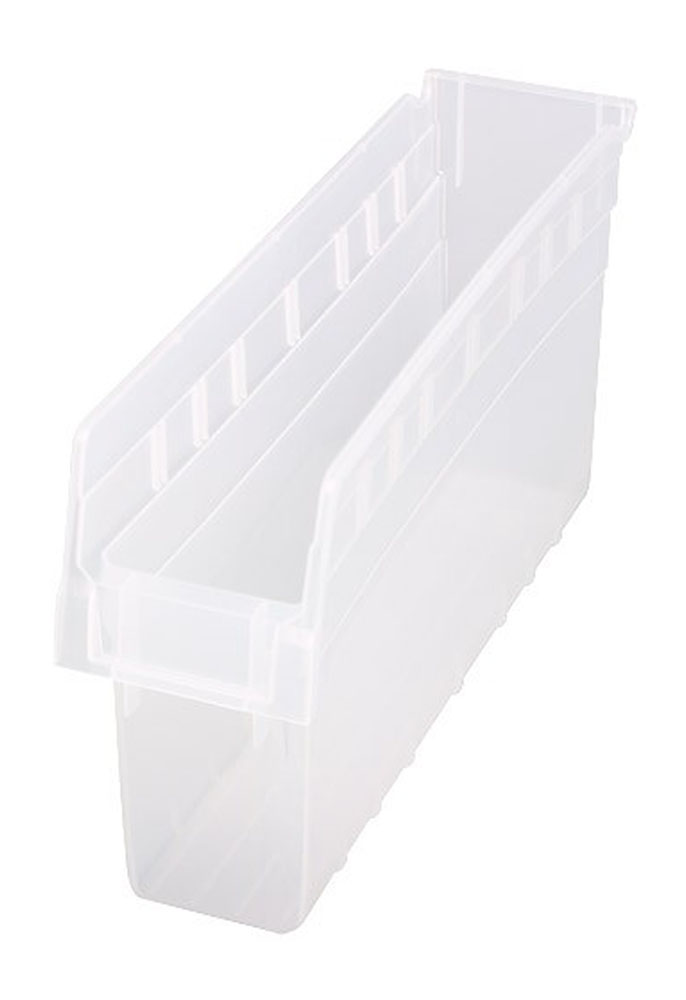 "QSB803CL Store-Max 8"" Shelf Bin - 17-7/8"" X 4-3/8"" X 8"" - Pack of 20"