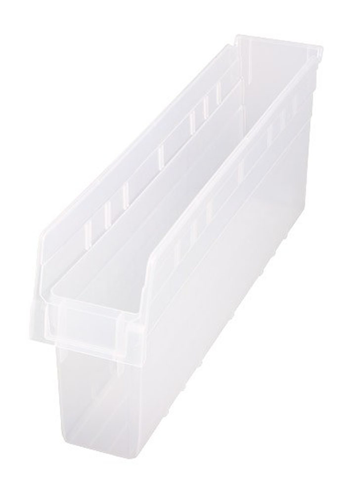 "QSB805CL Store-Max 8"" Shelf Bin - 23-5/8"" X 4-3/8"" X 8"" - Pack of 16"