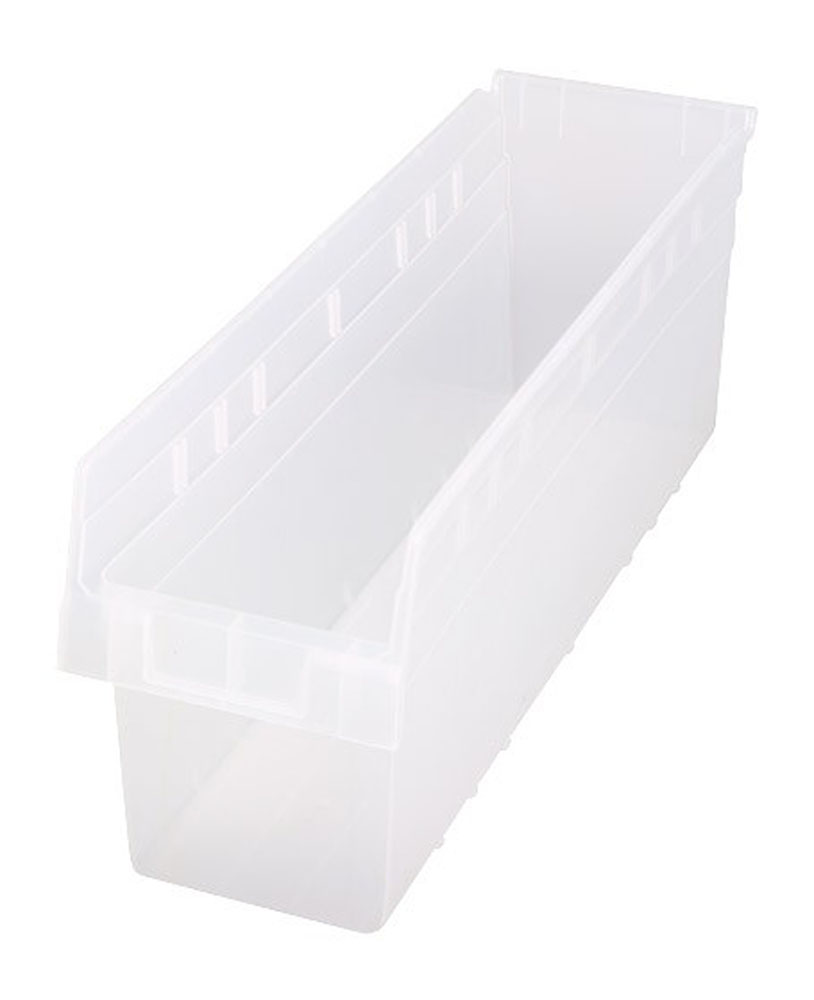 "QSB806CL Store-Max 8"" Shelf Bin - 23-5/8"" X 6-5/8"" X 8"" - Pack of 8"
