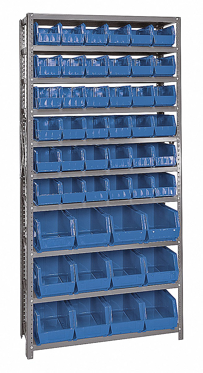 QSBU-230240 Giant open hopper storage unit Blue