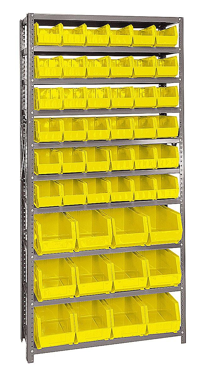 QSBU-230240 Giant open hopper storage unit Yellow