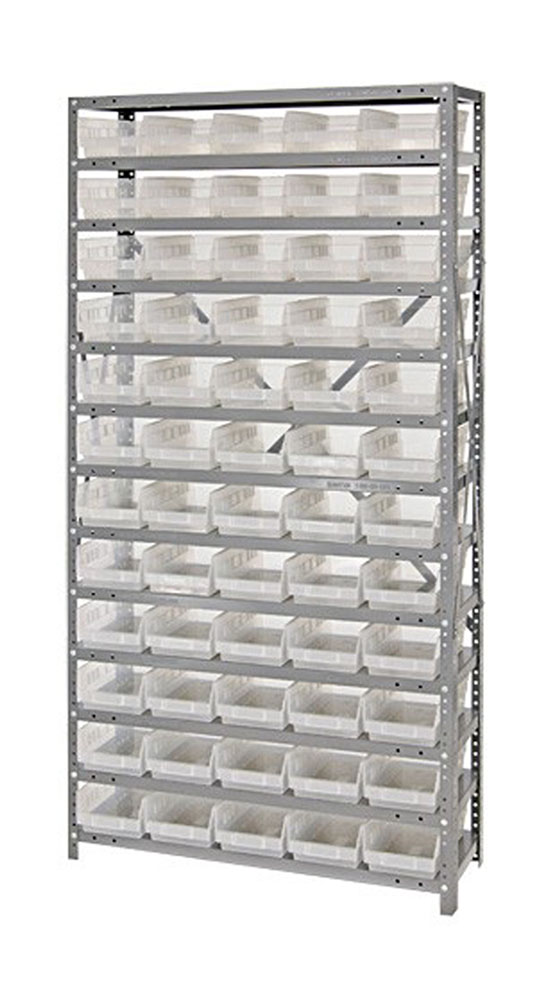 "1275-102CL Clear-View Quantum Shelf Bin Units 12""D X 36""Wx 75""H"