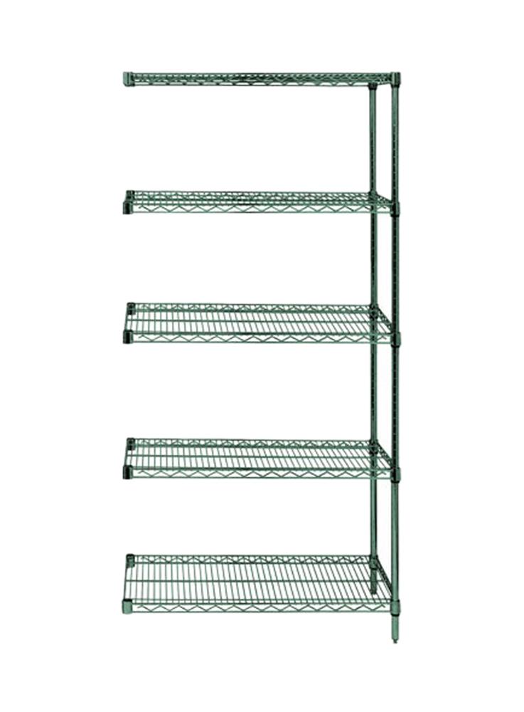 "Quantum Wire Shelving 5 Shelf Add-On Units Storage Rack Proform 18"" x 36"" x 54"""