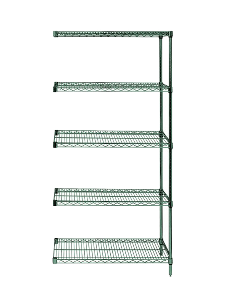 "Quantum Wire Shelving 5 Shelf Add-On Units Storage Rack Proform 24"" x 48"" x 74"""