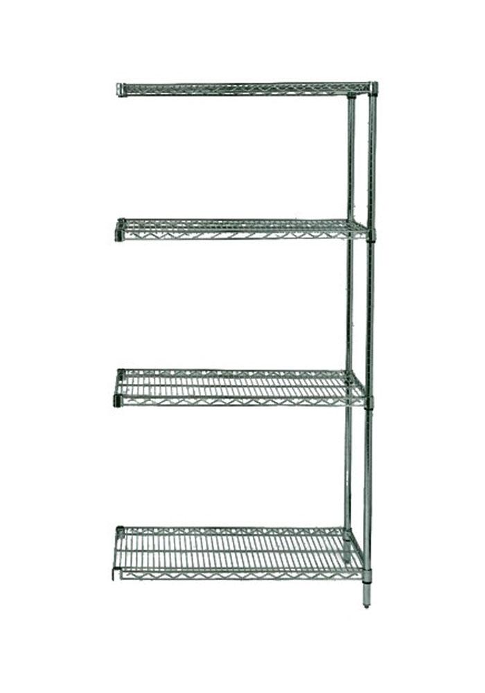"Quantum Wire Shelving 4-Shelf Add-On Units Storage Rack Proform 24"" x 48"" x 86"""