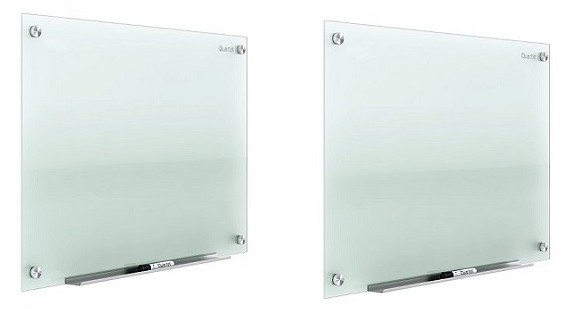 "Lot of 2 Quartet Infinity 48""x96"" Frameless Frosted Glass Markerboard 2-Pack G9648F"