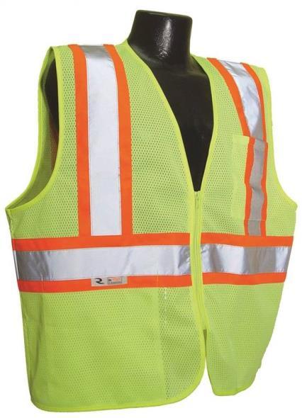 Radwear SV22-2ZGM 2-Tone Economical Safety Vest, X-Large, Unisex, 100% Polyester Mesh