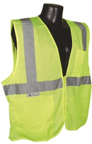 Radwear SV2Z-GM Economical Safety Vest, Large, Unisex, Hi-Viz Green
