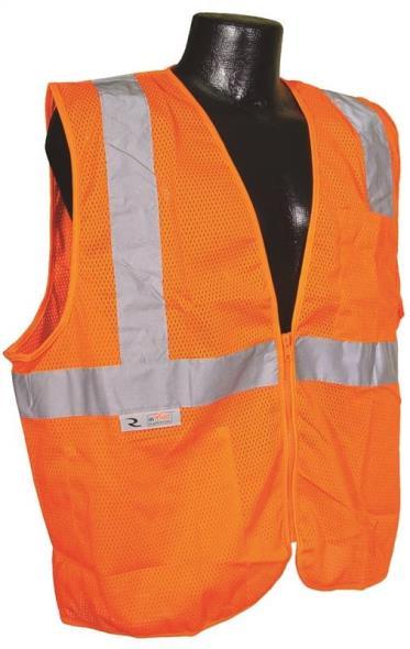 Radwear SV2Z-OM Economical Safety Vest, X-Large, Unisex, Hi-Viz Orange