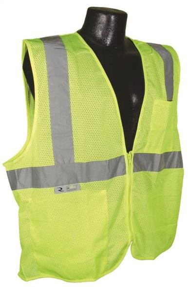 Radwear SV2Z-GM Economical Safety Vest, X-Large, Unisex, Hi-Viz Green
