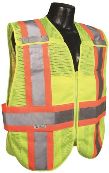 Radwear SV24-2ZGM 2-Tone Breakaway Expandable Safety Vest, X-Large, 100% Polyester Mesh