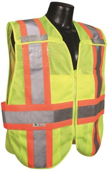 Radwear SV24-2ZGM 2-Tone Breakaway Expandable Safety Vest, Large, 100% Polyester Mesh