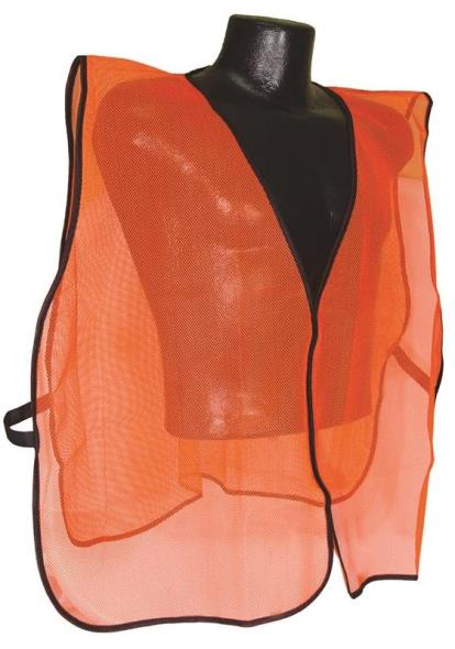Radwear SV Non-Rated Safety Vest, 100% Polyester Mesh, Hi-Viz Orange