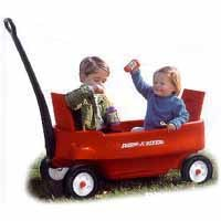 Radio Flyer 2700 Pathfinder Wagon 39 in L x 19 in W x 17 in D, Steel, Red