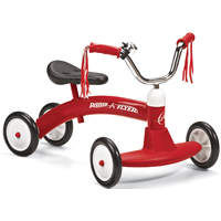Radio Flyer 20 Scoot About Tricycle 23-1/2 in L x 14-1/2 in W x 16-1/2 in D, Red