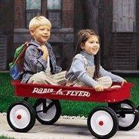 Radio Flyer Model No 18 Toy Wagon, Steel, Classic Red