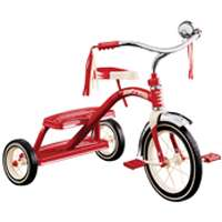 Radio Flyer Classic Dual Deck Tricycle, 2-1/2 - 5 Years, 12 X 1-1/4 in Front, 7 X 1-1/2 in Rear, Steel, Red