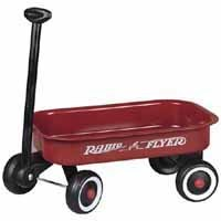 Radio Flyer W5 Little Toy Wagon 12-1/2 in L x 7-1/2 in W x 2 in D, Steel, Red