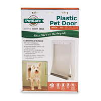 DOOR PET WHITE MED