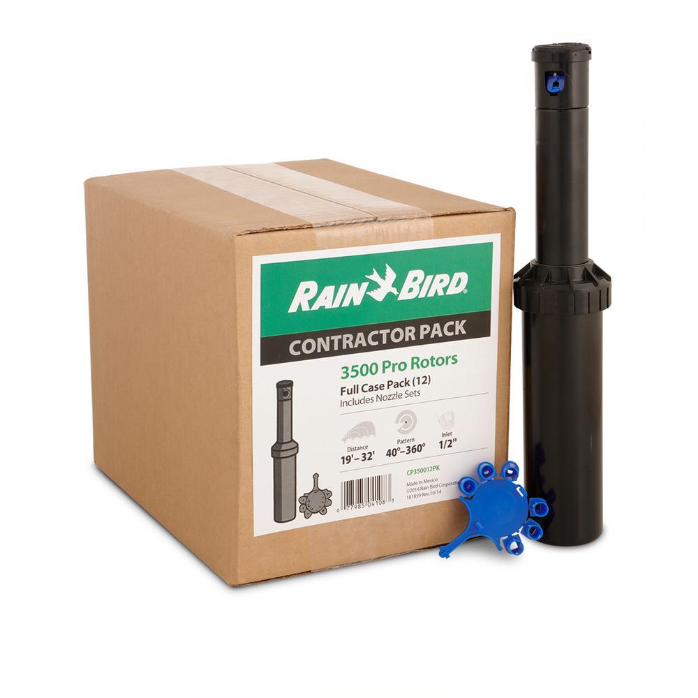Rainbird 22SA-F Mini Multiple Stream Rotor Sprinkler, 6 in H, Full Circle, 1/2 in FNPT