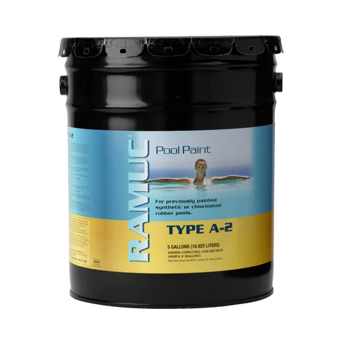 Type A-2 Premium Rubber Pool Coating - Monument Gray (5 Gallon)