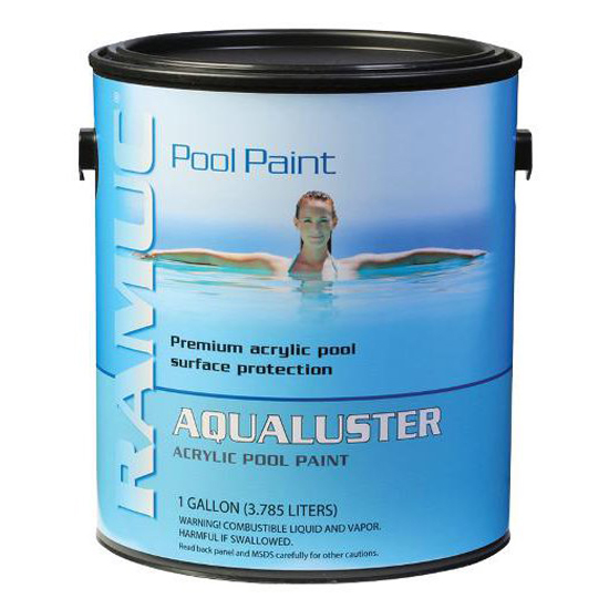 AquaLuster Acrylic Pool Coating Paint - Brilliant White (1 Gallon)