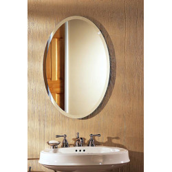 14-1/4X18X3-1/2 Medicine Cabinet With Oval Mirror
