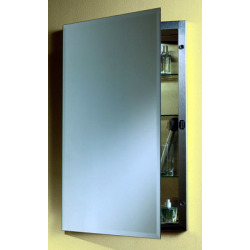 16 X 20 Stainless Steel Single Door REC Medicine Cabinet Beveled Mirror