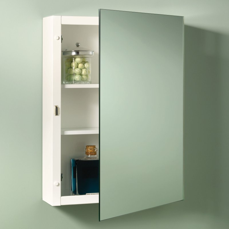 16 X 26 Single Door Frameless Medicine Cabinet