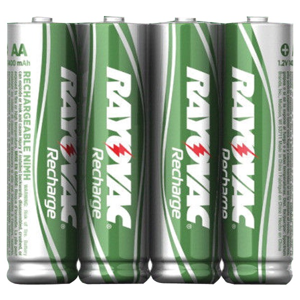RAYOVAC LD724-4OPB Ready-to-Use NiMH Rechargeable Batteries (AAA; 600mAh; 4 pk)