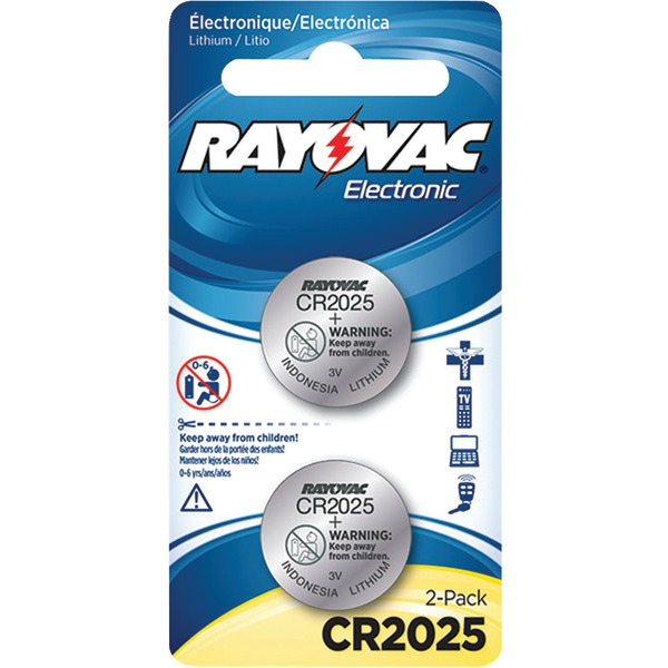 RAYOVAC KECR2025-2A 3-Volt Lithium Keyless Entry Battery (2 pk; CR2025 Size)