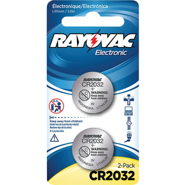 RAYOVAC KECR2032-2C 3-Volt Lithium Keyless Entry Battery (2 pk; CR2032 Size)